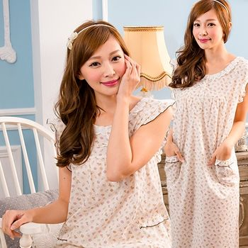【MFN】加大XL-無袖繽紛巧花MIT純棉洋裝