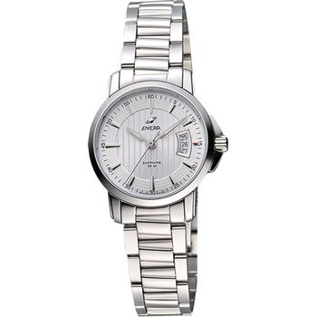 ENICAR英納格經典時尚系列石英女錶-銀956-30-281aA