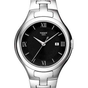 TISSOT 時尚雅典時刻腕錶-黑/銀T0822101105800