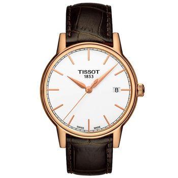 TISSOT 經典石英腕錶-白T0854103601100