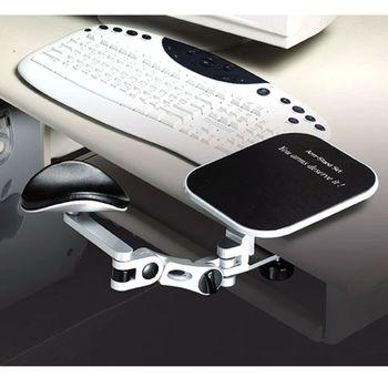 得力助手三代版鋁合金銀手臂支撐架-附光學鼠墊