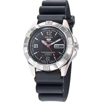 SEIKO SPORTS 飆風5號23石機械錶-黑