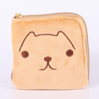 【kapibarasa】水豚君系列毛絨方型零錢包 L 水豚君