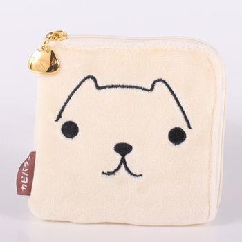 【kapibarasa】水豚君系列毛絨方型零錢包(L)懷特小姐