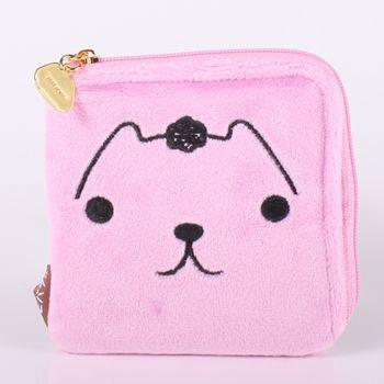 【kapibarasa】水豚君系列毛絨方型零錢包 L 暴走君