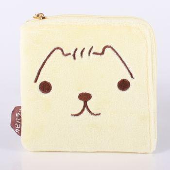 【kapibarasa】水豚君系列毛絨方型零錢包 L 陽光君