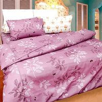 ~KOSNEY~紫魅彩影雙人六件式舖棉兩用被床罩組 ^#45