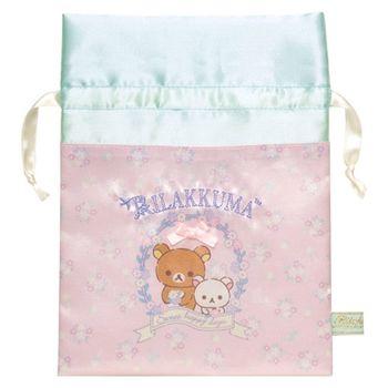 【SAN-X】拉拉熊快樂甜心系列布面束口袋