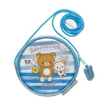 【SAN-X】拉拉熊我愛北極熊系列透明防水長掛繩零錢包