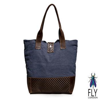 Fly London - 真皮編織帶 雙料配手提萬用購物袋