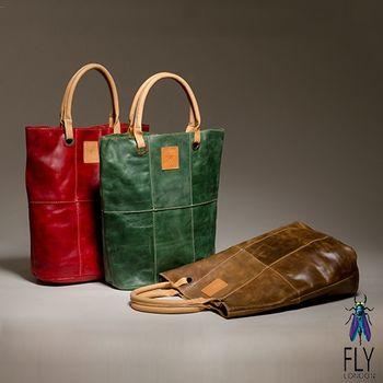 Fly London - AGE手工植染油蠟牛皮手提長袋