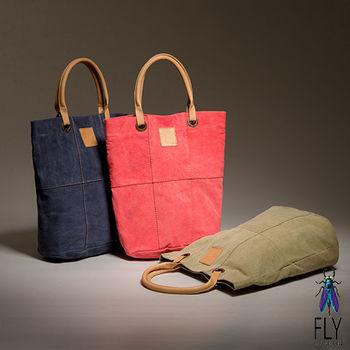Fly London - FLY水洗帆布牛皮手提長袋