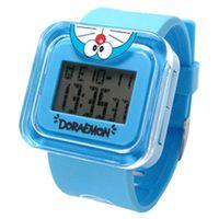 哆啦A夢俏皮倒立電子錶