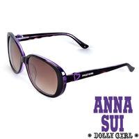 Anna Sui Dolly Girl系列甜美愛心款墨鏡‧黑+紫~DG803107~