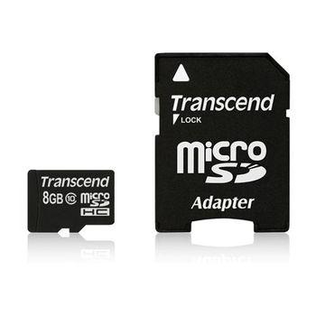 創見MicroSDHC 8GB Class10記憶卡(單轉卡)