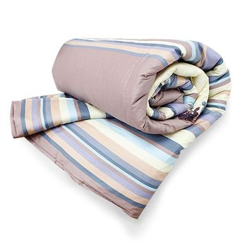 【KOSNEY】 美侖天使AB花版活性精梳棉涼被-台灣製造