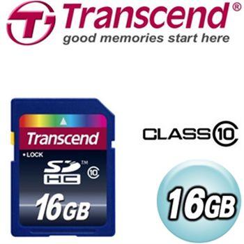 Transcend創見 16G CLASS10 SDHC高速記憶卡