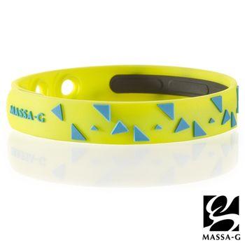 MASSA-G【Rhythm韻律-螢光綠】鍺鈦能量舒壓手環