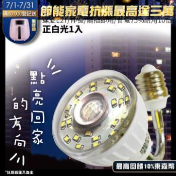 23LED感應燈泡(可彎螺旋E27型)(正白光)