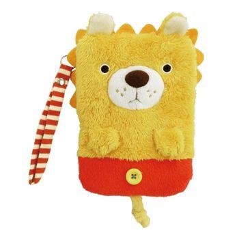 【UNIQUE】動物樂園毛絨手機提袋 小獅子