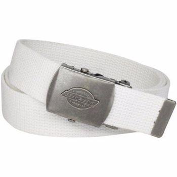 【Dickies】2014男時尚白色棉織軍事皮帶