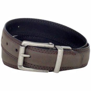 【Dickies】2014男時尚棕色雙車縫輥扣皮革皮帶