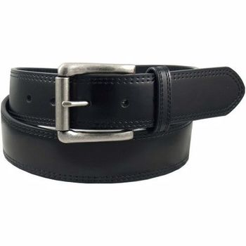 【Dickies】2014男品味黑色韁繩雙縫輥扣皮帶