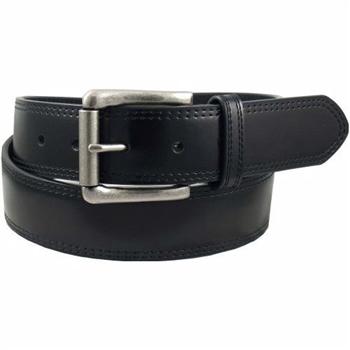 【Dickies】2014男時尚黑色雙車縫輥扣皮革皮帶