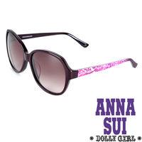 Anna Sui安娜蘇Dolly Girl系列復古印花圖騰‧黑+紫~DG805702~