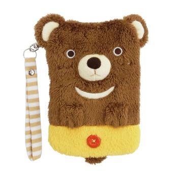 【UNIQUE】動物樂園毛絨手機提袋 小棕熊