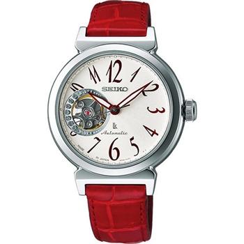 SEIKO LUKIA 甜蜜心鏤空晶鑽機械腕錶4R38-00N0R