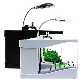 多功能桌上型水族箱檯燈筆筒