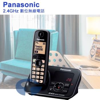 【Panasonic】2.4GHz數位答錄無線電話 KX-TG3721 (耀岩黑)
