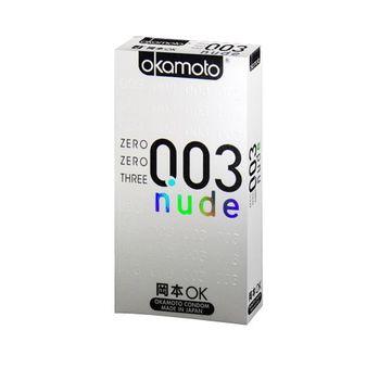 岡本okamoto 003赤裸極薄衛生套 白 6片