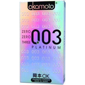 岡本okamoto 003極薄衛生套 銀 6片