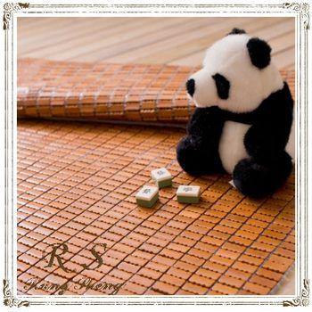 【Rung Sheng】沁涼特細粒炭化麻將涼蓆-雙人加大
