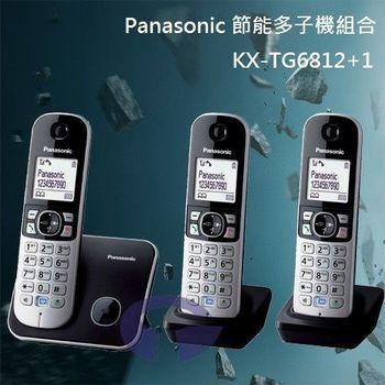 【Panasonic】DECT數位無線電話超值組 KX-TG6812+1 / KX-TG6813 (鈦金黑)