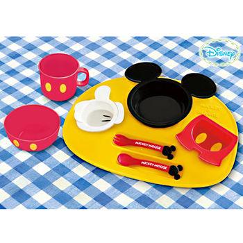【日本迪士尼】米奇歡樂時光卡通餐具豪華組(8件入)日本限定