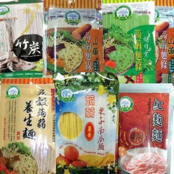 【大雪山農場】蒟蒻麵條/7種口味(共7包)
