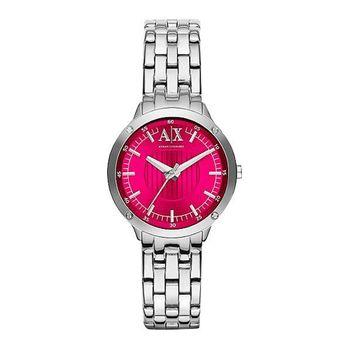 A│X Armani Exchange女伶腕錶-桃紅AX5419
