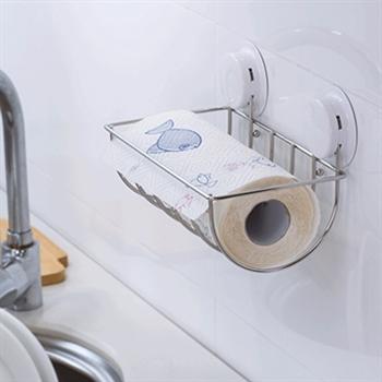 【三合一】高質感吸盤廚房餐紙架
