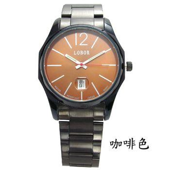 LOBOR 時尚潮流日期腕錶