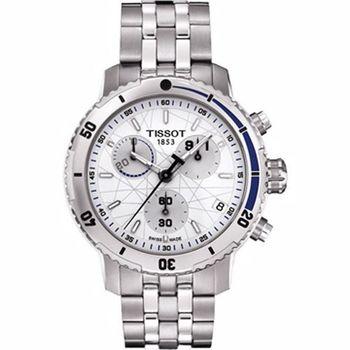 TISSOT 三眼計時腕錶-銀 T0674171101100