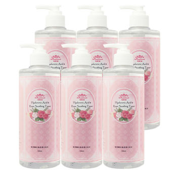 KilaDoll玻尿酸玫瑰保濕化妝水500ml(6入)