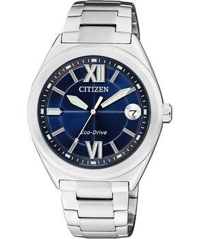 CITIZEN Eco-Drive羅馬女錶-銀FE6000-53L