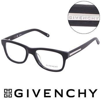 GIVENCHY 魅力紀凡希都會玩酷潮框平光眼鏡(木質黑)