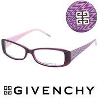 GIVENCHY 法國魅力紀梵希 幾何美學光學鏡框(紫)