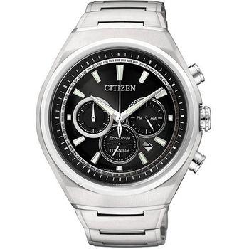 CITIZEN ECO-Drive三眼計時腕錶CA4021-51E
