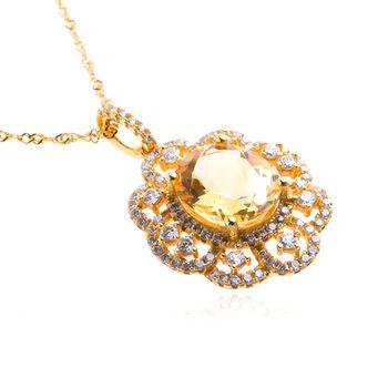 美帝亞 財富之石-曙光天然黃水晶項鍊 (預購)
