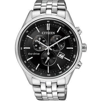 CITIZEN GENT S時尚光動能腕錶黑銀AT2140-55E